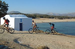 Cycling, biking in Naxos Island Greece