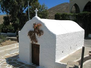 Church in Eggares village in Naxos Cyclades