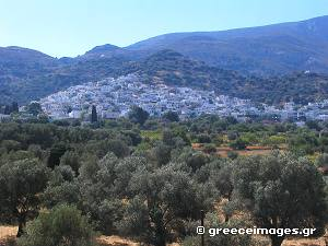Filoti Village in Naxos Greece