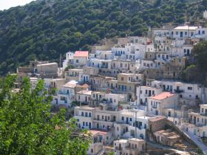 Koronos Village in Naxos Island Greece